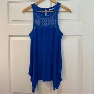 Embroidered Flowing Tank